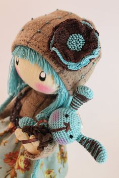 Hey, I found this really awesome Etsy listing at https://www.etsy.com/listing/240100487/doll-zooey-brown-and-turquoise-rag-doll