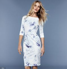 She's a lady! Rosie Huntington-Whiteley looks ladylike and demure in M&S' summer clothing range