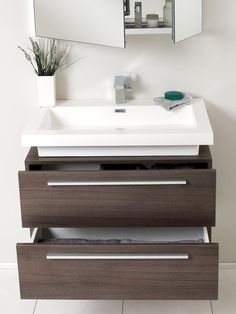 Perfect for my bathroom! Want a floating vanity with basin on top and a mirror cabinet :)