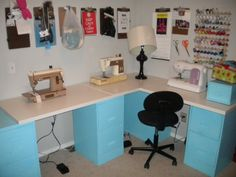 Inexpensive sewing room