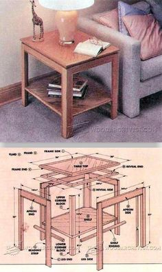 DIY End Table - Furniture Plans and Projects | WoodArchivist.com