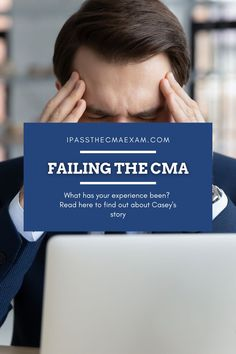 Have you failed the CMA exam? How does your story relate to Casey's? Take a look at the post and the note from Stephanie below! #CMA #CMAExam #EarnCMA Exam Study Tips, Exams Tips, Career Path, Career Advice, Enrolled Agent, Accounting Student, Cpa Exam, How To Find Out, How To Become