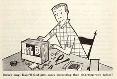 From 'When Children Start Dating' illustrated by Janet LaSalle. 1951.
