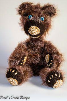 Scruffy Bear R250 Crochet Teddy, Teddy Bear, Toys, Handmade, Animals, Activity Toys, Hand Made, Animales, Animaux