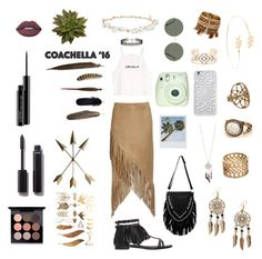 """""""Coachella"""" by kyramichels ❤ liked on Polyvore featuring Nightwalker, Yves Saint Laurent, Robert Rose, Forever 21, Mineheart, Lime Crime, Felony Case, Red Camel, Accessorize and MAC Cosmetics"""