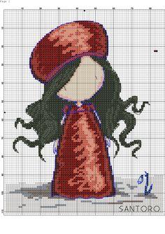 Gorjuss Cross Stitch Cards, Cross Stitching, Cross Stitch Embroidery, Baby Cross Stitch Patterns, Cross Stitch Designs, Stitch Doll, Peyote Patterns, Flower Crafts, Altered Art