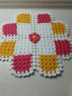 Free 100 crochet and knitting patterns. There are patterns for you, the kids and for baby. See all of your favorite 100 crochet patterns. Square Patterns, Afghan Crochet Patterns, Crochet Squares, Baby Knitting Patterns, Crochet Mat, Crochet Home, Baby Blanket Crochet, Free Crochet, Knitting For Beginners