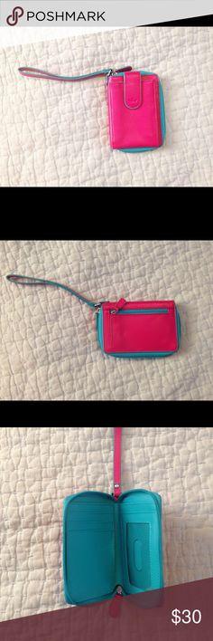 Vera Bradley Baekgaard Collection Wristlet/Wallet Sweet little Wristlet/Wallet/Phone Holder! Bright colors, good condition! Vera Bradley Bags Clutches & Wristlets