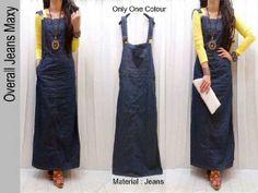 Overall Jeans Maxi 110rb Rahma O Shop Supplier Baju Hijabers