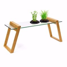 Boxed, unopened Mukai glass and bamboo coffee table for sale, very easy to assemble. Selling for £75