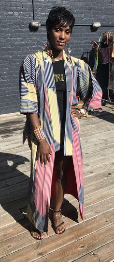 Where world cultural meet. Vintage Japanese kimono and Maasai adornments from Kenya. Blended beautifully by this beautiful Sister.