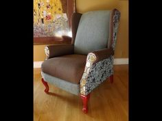 Really excellent video on ▶ How to Upholster a Wing Chair Yourself. Como Forrar uma Poltrona Voce Mesmo. - YouTube