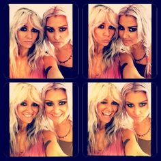 Lou Teasdale and her twin sister Sam. (Sam's instagram)---Lou's hair. I am obsessed. I love the blonde- ish light lavender color omg. Im so weird.