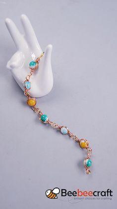 tutorial on making with - DIY Schmuck Wire Jewelry Designs, Handmade Jewelry Bracelets, Jewelry Patterns, Recycled Jewelry, Diy Bracelets Easy, Bracelet Crafts, Beaded Bracelets, Necklaces, Bead Jewellery