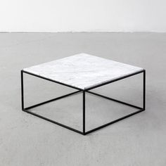 Jorge Zalszupin Enameled Iron and Marble Coffee Tables for L