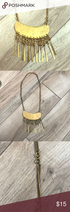 Gold statement necklace Hand crafted one of a kind piece. Jewelry Necklaces