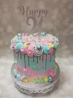 Birthday Cake, Cakes, Desserts, Ideas, Food, Pastel Colours, Pastries, Tailgate Desserts, Birthday Cakes