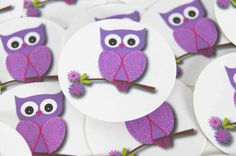 Envelope Seals or Stickers - Purple Owl SES107 on Etsy, $5.00
