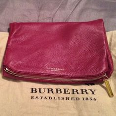 Burberry Prorsum large Kendall fold over handbag NWT Deerskin, gold hardware, and gorgeous!!!  Burberry  Bags