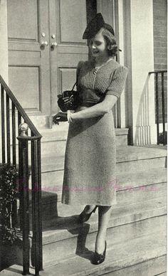 1930s 1940s free vintage knitting pattern patterns knitwear retro  30s 40s Subversive Femme