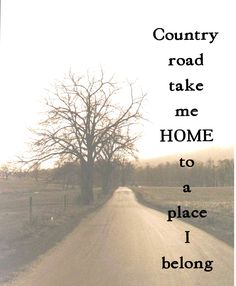 country road take me home