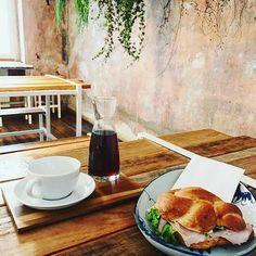 Repost by divemadhouse kaffeekirsche berlin kreuzberg specialtycoffee middaylunch salads homemadeciabattahellip