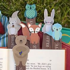 Personalize and print these free adorable woodland friend bookmarks to join you in your summer reading.
