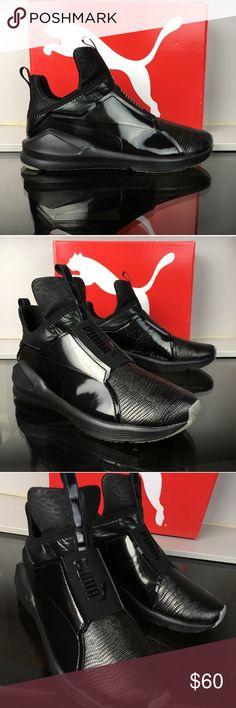 d33ebf4a1b576 Puma Fierce in Black Metallic NEVER WORN in box. Puma Fierce in black  metallic.