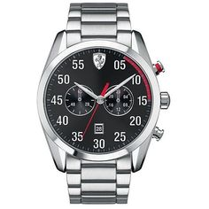 d1ea77700 Scuderia Ferrari D50 Stainless Steel Chronograph Watch (1.085 BRL) ❤ liked  on Polyvore featuring