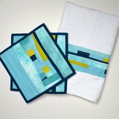 Kitchen Gift Set Blue Kitchen Towel Blue Pot by TwiggyandOpal,