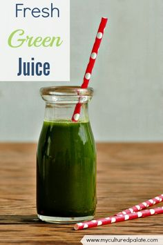 No matter how healthy something is, if it doesn't taste good, you aren't going to eat it! To be honest, some good-for-you green drinks are just yucky - but, not this one! This fresh green drink is not only easy but is also delicious - even my children love it! http://myculturedpalate.com/2014/10/30/fresh-green-juice-drink/