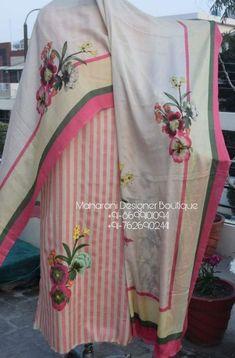 Punjabi Suit Boutique, Punjabi Suits Designer Boutique, Pakistani Designer Suits, Boutique Suits, Pakistani Dress Design, Indian Designer Outfits, Indian Outfits, Punjabi Suit For Ladies, Ladies Suits Indian