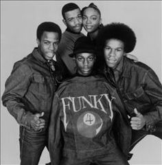 """Funky 4 + 1 were one of the first hip-hop groups that contained a female MC and were certainly the first group of their kind that released records commercially. The Funky 4 consisted of DJ Breakout, K.K. Rockwell, Keith Keith, Lil' Rodney Cee, Jazzy Jeff, and the """"plus one"""" -- Sha Rock. Among DJ Breakout's peers in the early to mid-'70s were such hip-hop pioneers as DJ Kool Herc, Afrika Bambaataa, and Grandmaster Flash."""