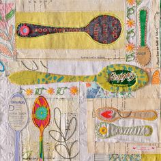 maria thomas: found & reclaimed mixed media textiles: quilts