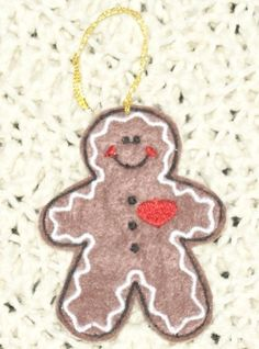 Gingerbread man Ornament or request sew on by Susansweaters, $1.25
