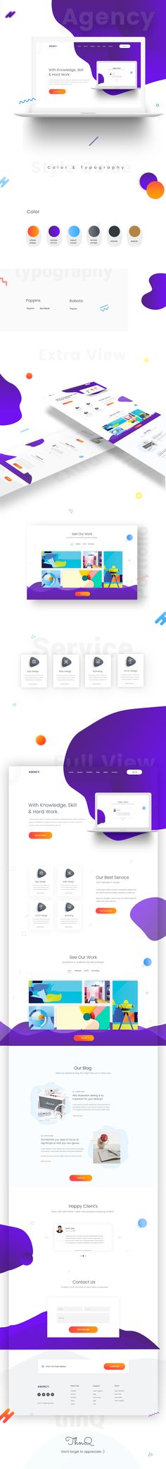 "Check out this @Behance project: ""Agency-Landing-page Design"" https://www.behance.net/gallery/57284397/Agency-Landing-page-Design"