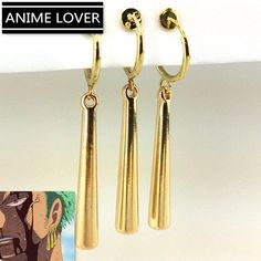 Only true badasses like Zoro would wear this set of earrings. Exactly like in the anime, the Zoro earrings are crafted to perfection and an awesome accessory for Zoro fans! Item Type: Earrings Material: Zinc Alloy Theme: One Piece Zoro Roronoa Zoro, One Piece Merchandise, Anime Merchandise, One Piece Cosplay, Anime One Piece, Zoro One Piece, One Piece Figur, Tatuagem One Piece, Boca Anime