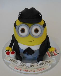 3D Minion Maverick Birthday Cake - by Nada's Cakes Canberra