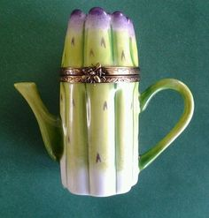 Asparagus Limoges Trinket Box