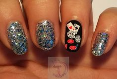 Las vegas nail art designs how you can do it at home pictures. Vegas Nail Art, Las Vegas Nails, Love Nails, How To Do Nails, Pretty Nails, Different Nail Designs, Cute Nail Designs, Nagel Bling, Bling Nails