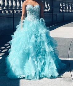 This resale blue size 2 ball gown on queenly is a gorgeous choice for your next formal event. See more prom, pageant, and formal dresses, resale and brand new, on Queenly. Best Gowns, Blue Ball Gowns, Size 2, Plus Size, Girls Dresses, Formal Dresses, First Girl, Quinceanera, Pageant