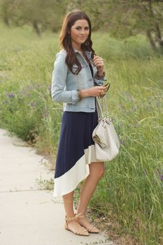 Skirt + denim