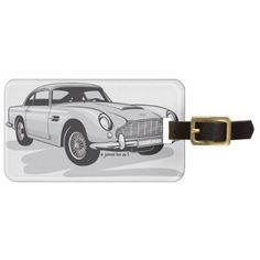 Silver Aston Martin DB5 Bag Tag