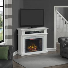 Faux Fireplace and TV Mantle