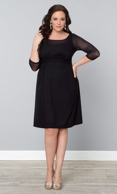 Dress it up or dress it down, our plus size Morgan Mesh Dress is a must-have addition to your LBD collection. Beautiful! Saw one just like it at http://www.womensuitsupto34.com/