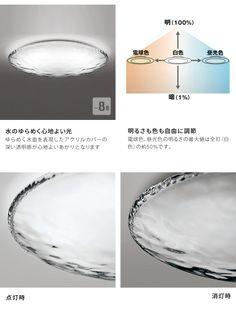 AQUA -Water- LEDシーリングライト 調光・調色 ~8畳   リモコン付   インテリア照明の通販 照明のライティングファクトリー Light Fixtures, Lights, Room, Bedroom, Lighting, Rooms, Light Fittings, Rope Lighting, Candles
