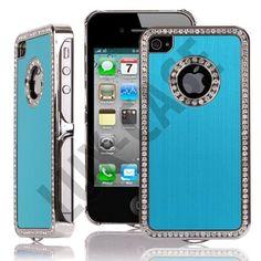 Jewel Silver Edge (Lys Blå) iPhone 4/4S Deksel