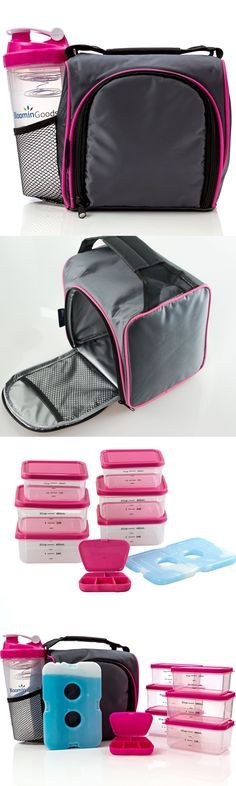 Gym Bags 68816: Meal Management Bag Insulated Portion Control Containers Shaker Cup Fitness Pink -> BUY IT NOW ONLY: $34.49 on eBay!