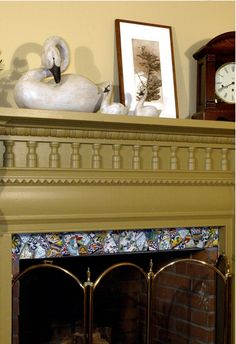 border on fireplace
