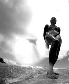 GoPro cam pic of surfer from the board...cool perspective.